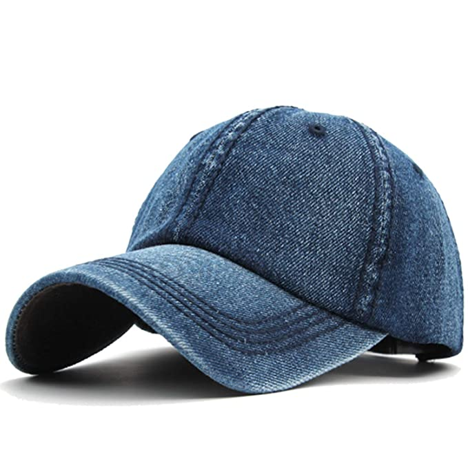 Amazon.com: Women Baseball Caps Hats Denim Jeans Band Snapback Caps Casquette Plain Bone Hat Gorras Men Casual Dad Cap Hat: Clothing