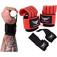 Gym Maniac GM Lifting Straps - Wrist, Hand, Palm Assist Gear for Pull Up Bar, Weights, Barbell, Crossfit, Deadlift…