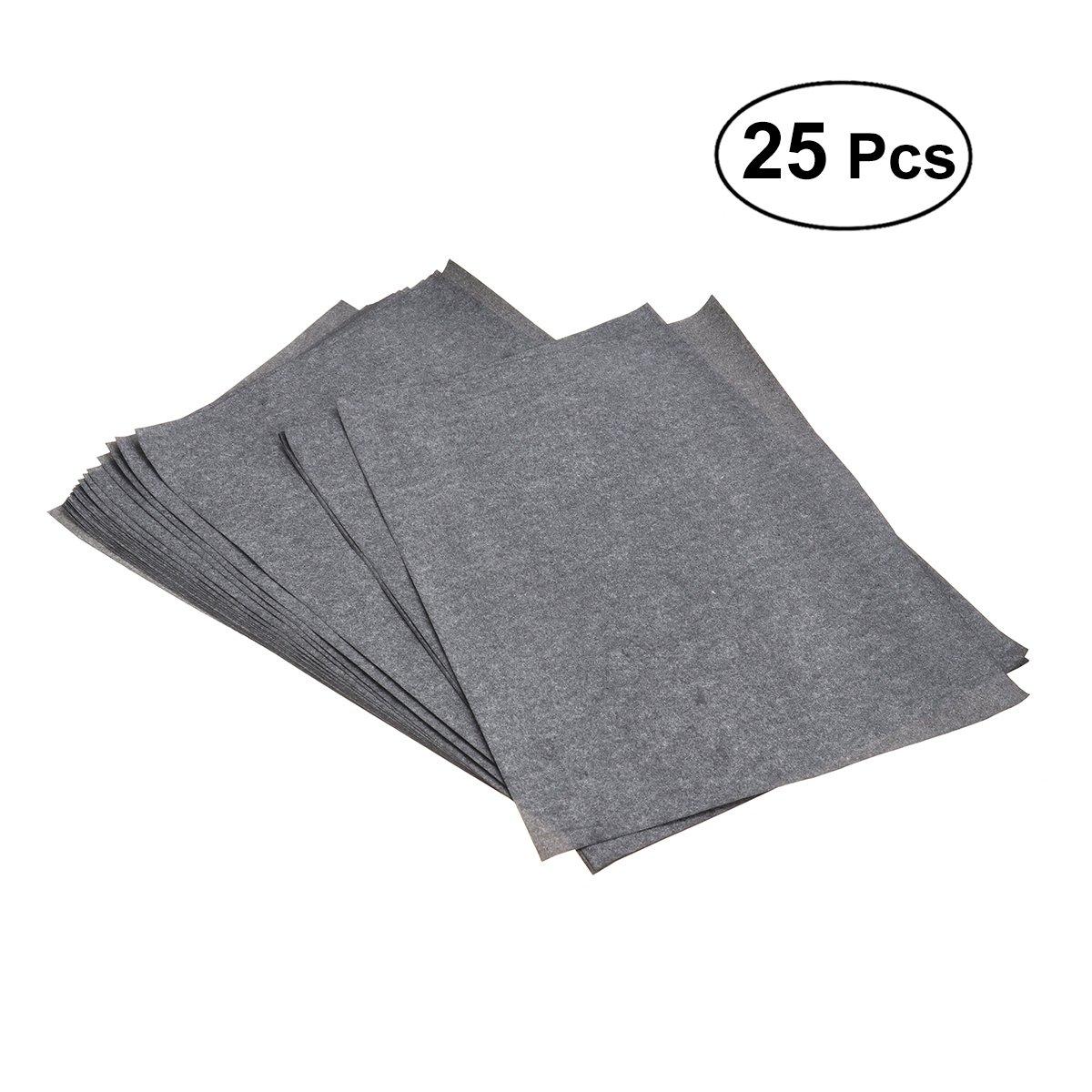 ultnice 25Fogli di carta carbone di trasferimento carta di grafite per legno tessuto (Grigio/Nero)