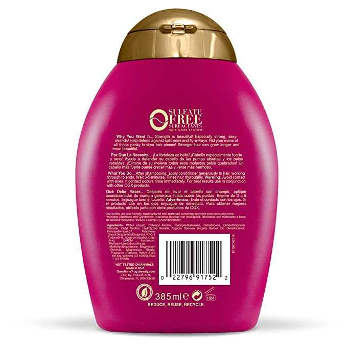 OGX Conditioner, Anti-Breakage Keratin Oil, 13oz by OGX: Amazon.es: Salud y cuidado personal