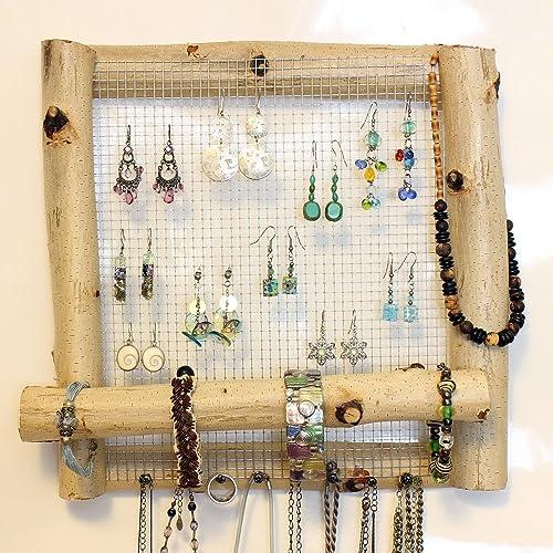 Amazon.com: Birch Branch Jewelry Organizer Display Frame- 12\