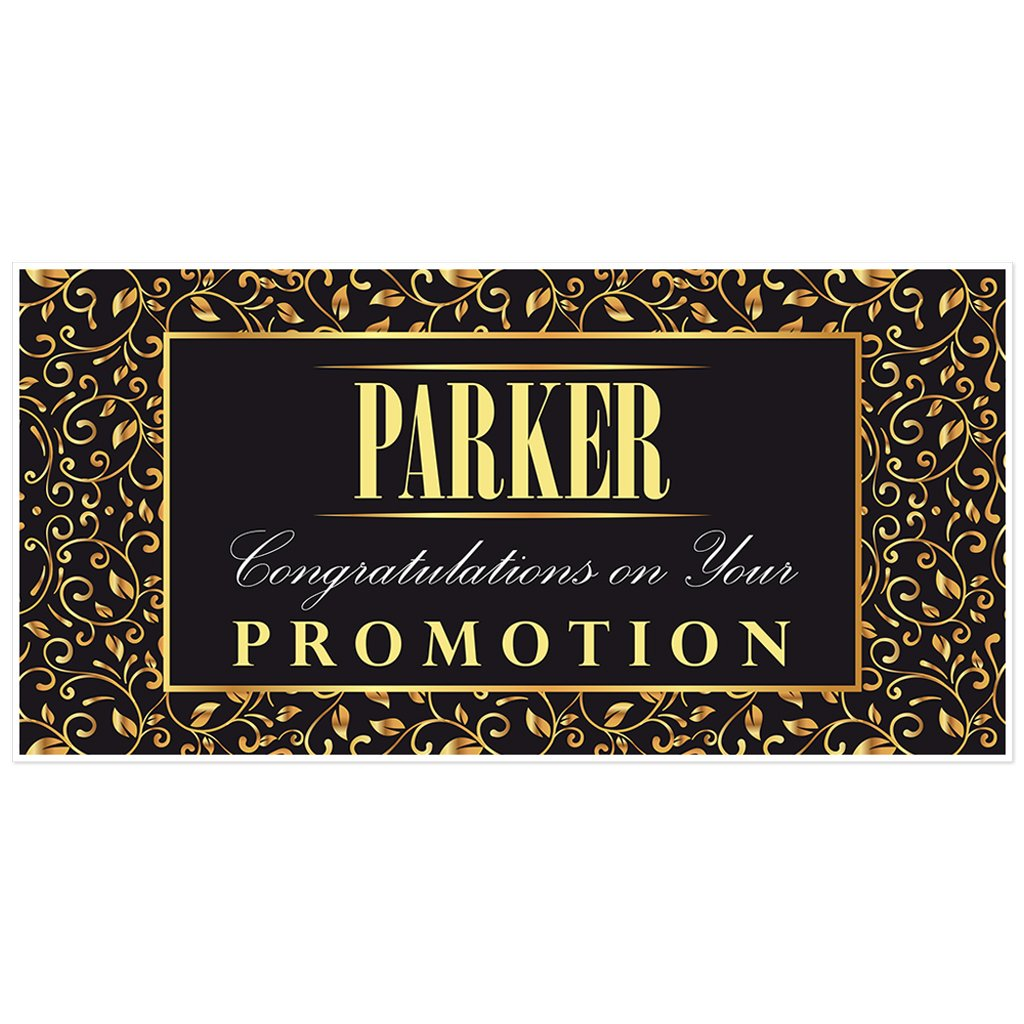 Gold Ornamental Congratulations Banner Personalization Party Decoration