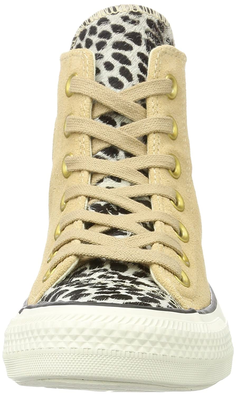 Converse Hohe Unisex-Erwachsene CTAS Hi Light Fawn/schwarz Hohe Converse Sneaker, Mehrfarbig (Light Fawn/schwarz/Egret) 51e68f