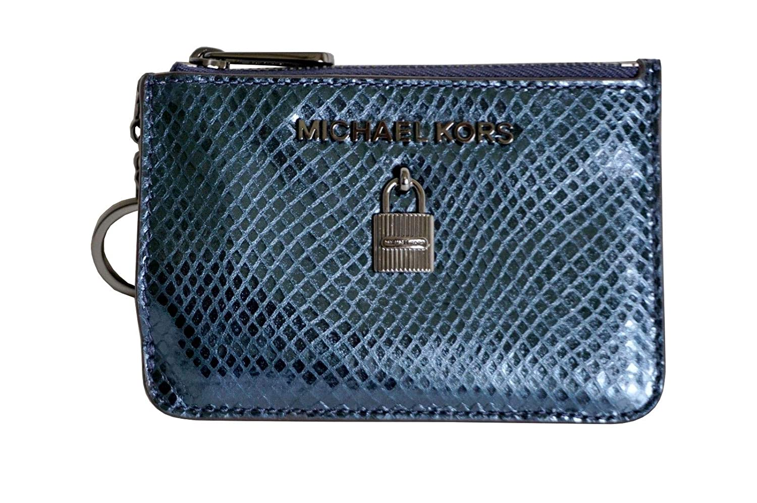 bfeee4dc9b0a Michael Kors Adele Small Top Zip Coin Pouch ID Card Case Wallet (Deep Teal)  at Amazon Women s Clothing store