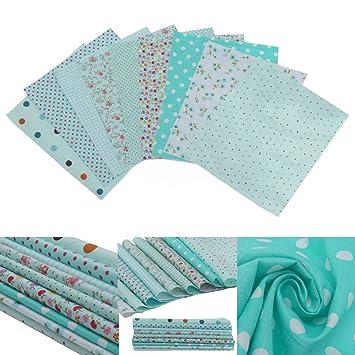 9pcs Square Floral Cotton Material Nähen Handwerk Patchwork Tuch 20 ...