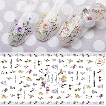 Amazon 1 Sheet Small Flower Decal Nail Art Stickers Dried