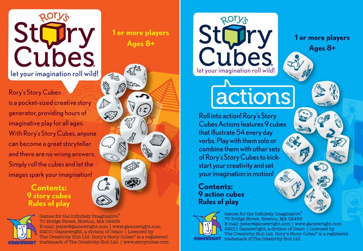 amazon com rory s story cubes original and actions by gamewright