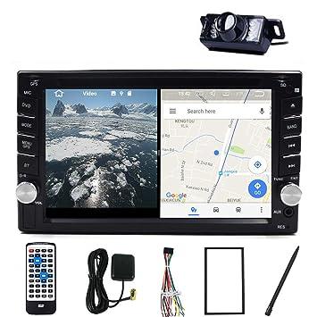 Doble DIN coche estéreo HEAD unidad cubierta 6.2 pulgadas TFT pantalla táctil 3d interfaz GPS navegación
