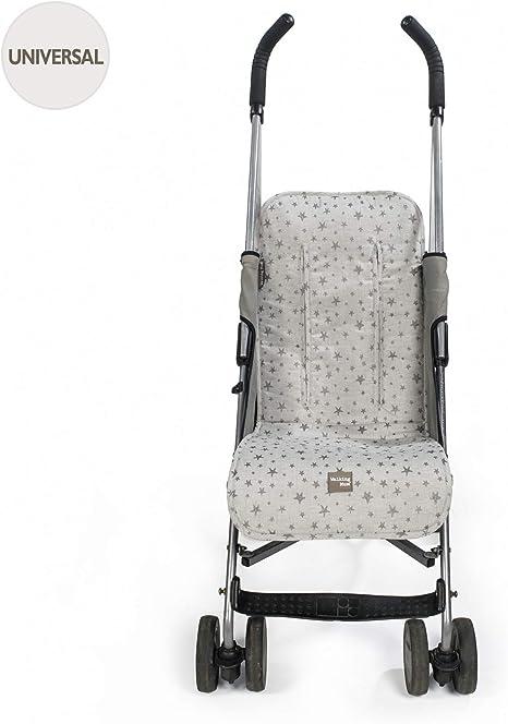 Walking Mum. Colchoneta para silla de paseo Inspiration. Forro para silla anti-sudoración para el verano. Uso universal. Color Gris. Medidas 35 x 84 cm.: Amazon.es: Bebé