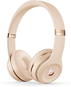 Beats Solo3 Wireless On-Ear Headphones - Apple W1 Headphone Chip, Class 1 Bluetooth, 40 Hours of Listening Time, Built-in Microphone - Satin Gold