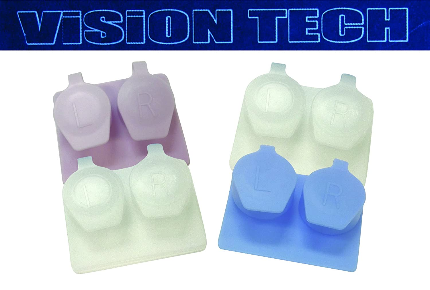 Flip Top Contact Lens Case - 4 Pack - Variety Pack - Vision Tech Plastic Technologies Inc.