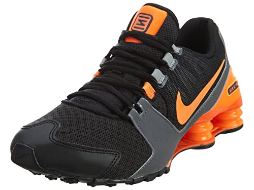 the latest bab10 571b6 Nike Men s Shox Avenue Black Total Orange Wolf Grey Synthetic Running Shoes  8 M