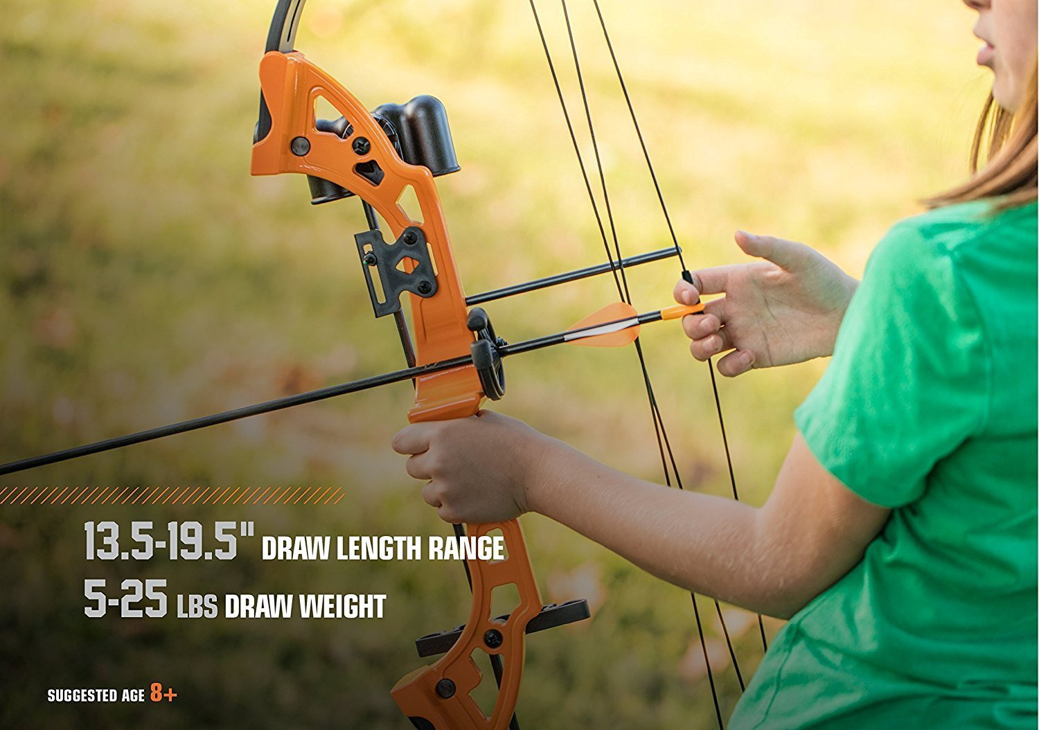 By-Ear Archery Compound Bow, Brave Youth Set Girls Boys Compound Bow Kids, Black by By-Ear Archery (Image #4)