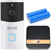 Elinz Wireless WiFi Doorbell Intercom Camera Video Phone HD 1080P Two-Way Talk Smart PIR CCTV Night Vision, Smart Life…