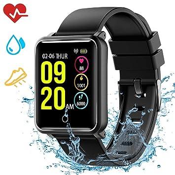 Mpow Montre Connectée Bracelet Connecté Smartwatch Étanche IP68 avec Caméra de Télécommande, Montre Sport Bracelet