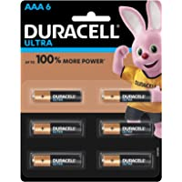 Duracell Ultra Alkaline AAA Batteries (Pack of 6)