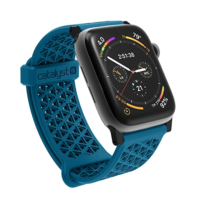 reputable site b2769 21559 Catalyst Compatible with Apple Watch Band 42mm 44mm, Quick Release Silicone  Hypoallergenic Sport Band for Apple Watch Series 4, Series 3, Series 2, ...