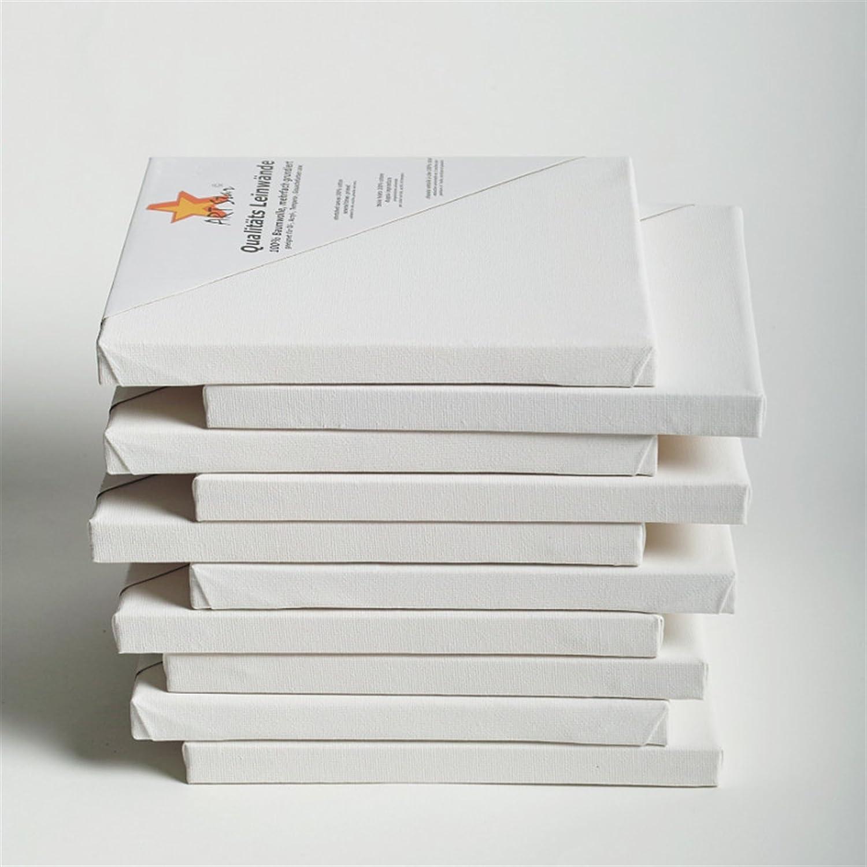 10 tele su telaio, 40 x 30 cm, pronte all' uso, 100% cotone, ideali per principianti XTRADEFACTORY GMBH