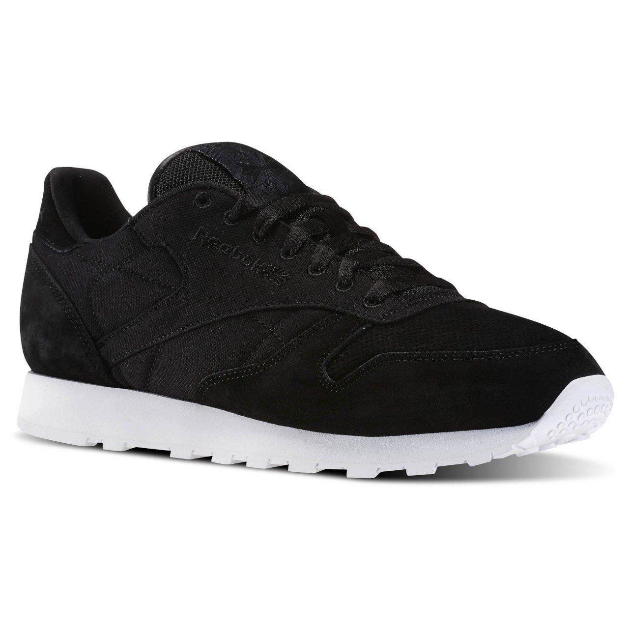 Reebok Cl Leather Cc - schwarz Weiß, Größe 11.5