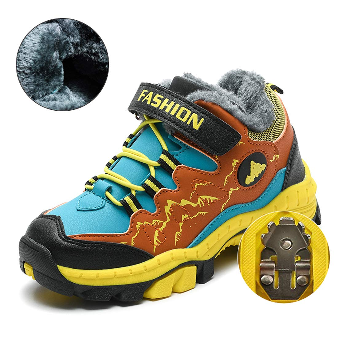 KRIMUS Kids Mid-Rise Waterproof Hiking Boot Winter Outdoor Climbing ZLL8032V01