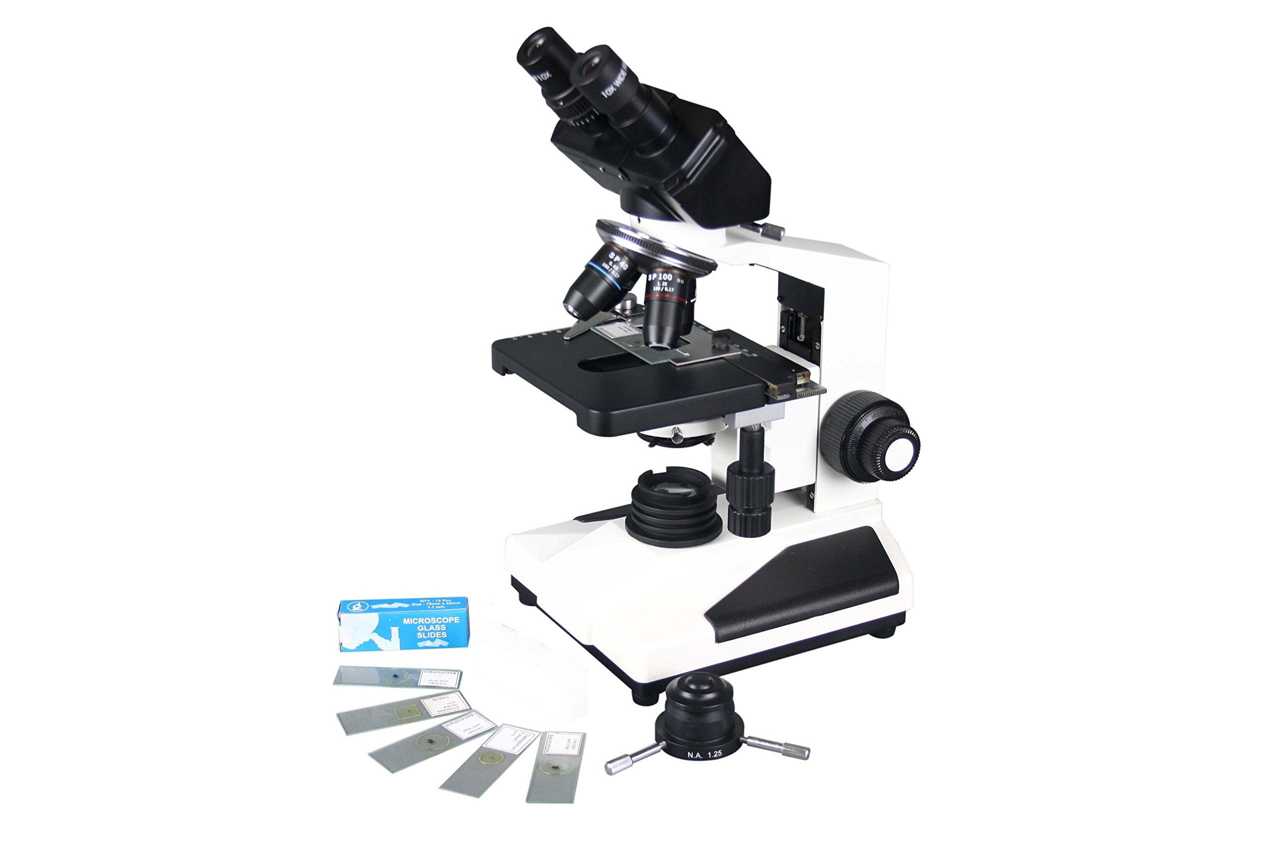 Radical Research Quality Brightfield & Darkfield Binocular Clinical Biology LED Microscope by Radical