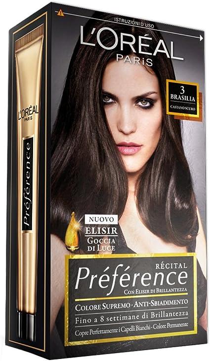 PREFERENCE 3castano scuro - Tintes para el cabello: Amazon.es ...