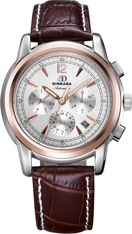 BINKADA 6ポインタfor Man自動機械ホワイトダイヤルメンズ腕時計# 706204 – 3 B00Y68IPAE
