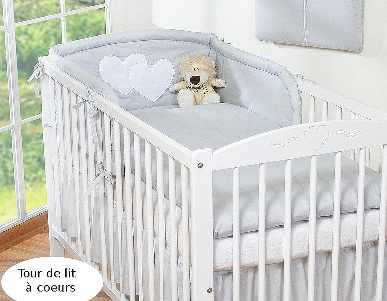 lit bebe a barreaux ligne confetti blanc gris 1 un lit. Black Bedroom Furniture Sets. Home Design Ideas