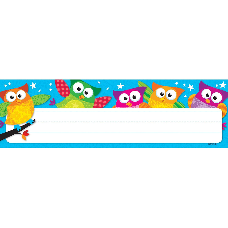 TREND enterprises, Inc. Owl-Stars! Desk Toppers Name Plates, 36 ct T-69217