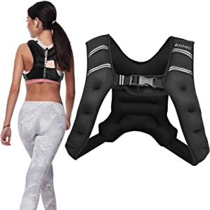 Adurance Weighted Vest Workout Equipment, 6lbs 10lbs 14lbs 18lbs Body Weight Vest for Men, Women, Kids