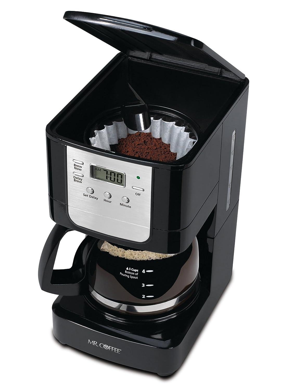 Coffee Advanced Brew 5-Cup Programmable Coffee Maker Black//Chrome Mr