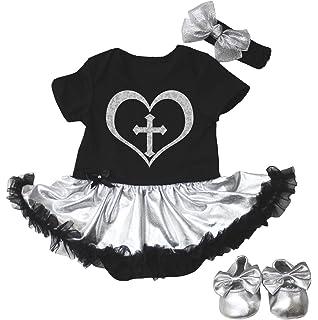 Halloween Black Bodysuit Pink Bow White Skull Jumpsuit Black Baby Dress NB-12M
