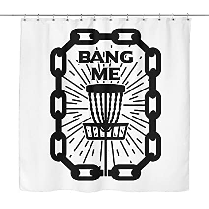 Amazon Bang Me Disc Golf Shower Curtain Home Kitchen