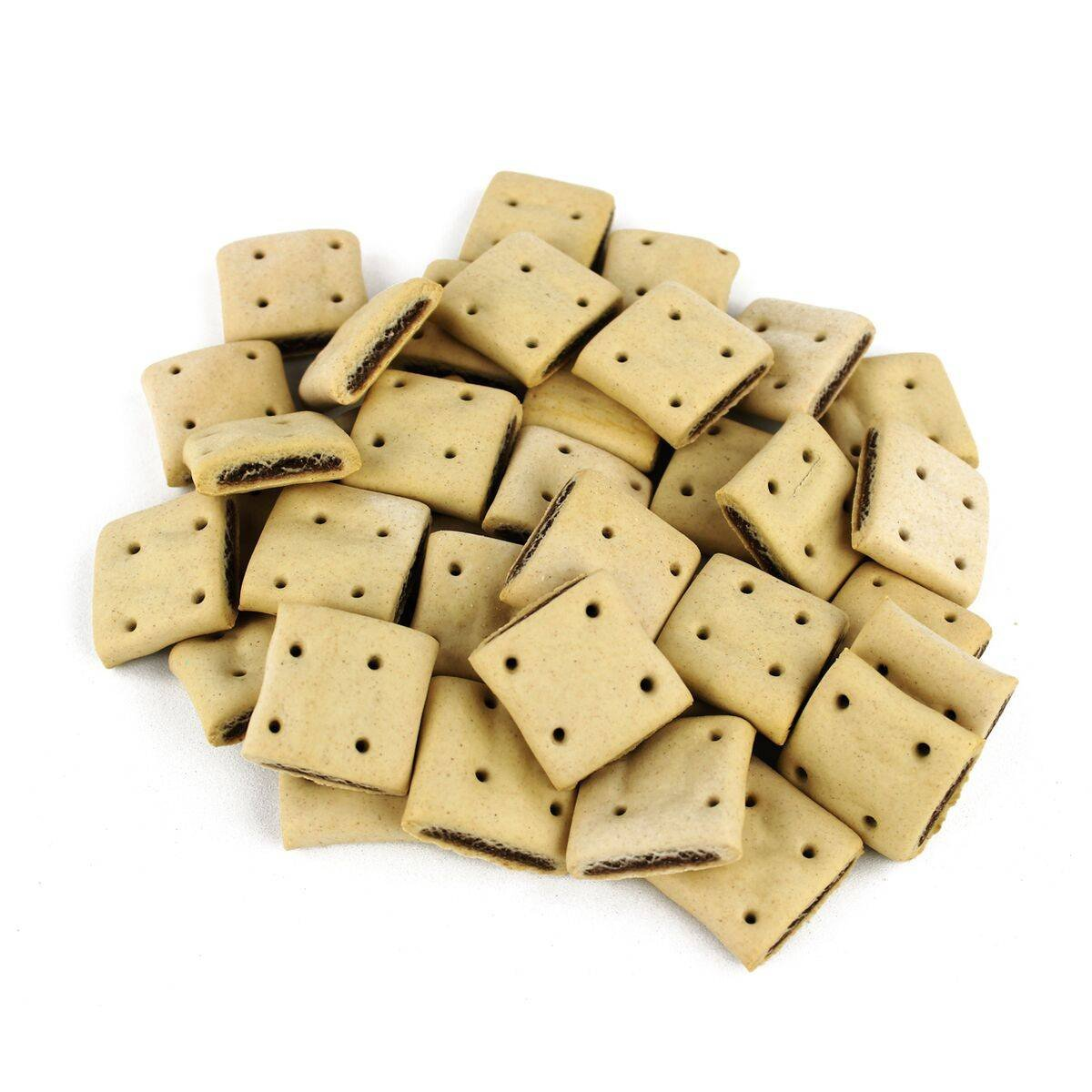 BIOZOO - Biscuits Animaux os au laît pour Chien - 2 Sacs de 500 GR