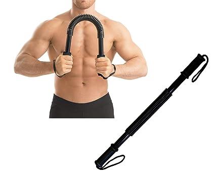 Ducomi Power Twister - Barra Musculación, Extensor Entrenamiento Pecho y Brazos a Casa o Gimnasio
