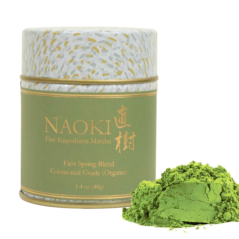 Naoki Matcha (Organic First Spring Blend, 40g / 1.4oz) - Authentic Japanese Matcha Green Tea Powder Organic Ceremonial Grade from Kagoshima, Japan by Naoki Matcha