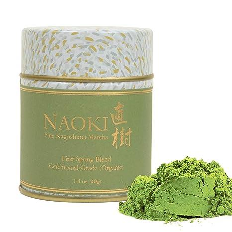 Naoki Matcha (Organic First Spring Blend, 40g / 1.4oz)   Authentic Japanese Matcha Green Tea Powder Organic Ceremonial Grade From Kagoshima, Japan by Naoki Matcha