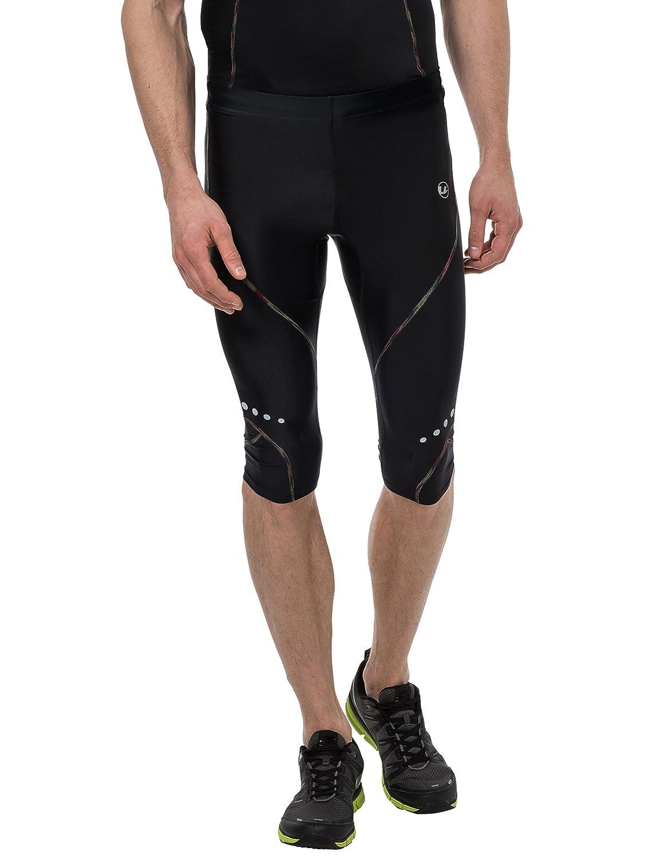 Ultrasport Rainbow - Pantalones corsario de Deporte para Hombre, Color Negro