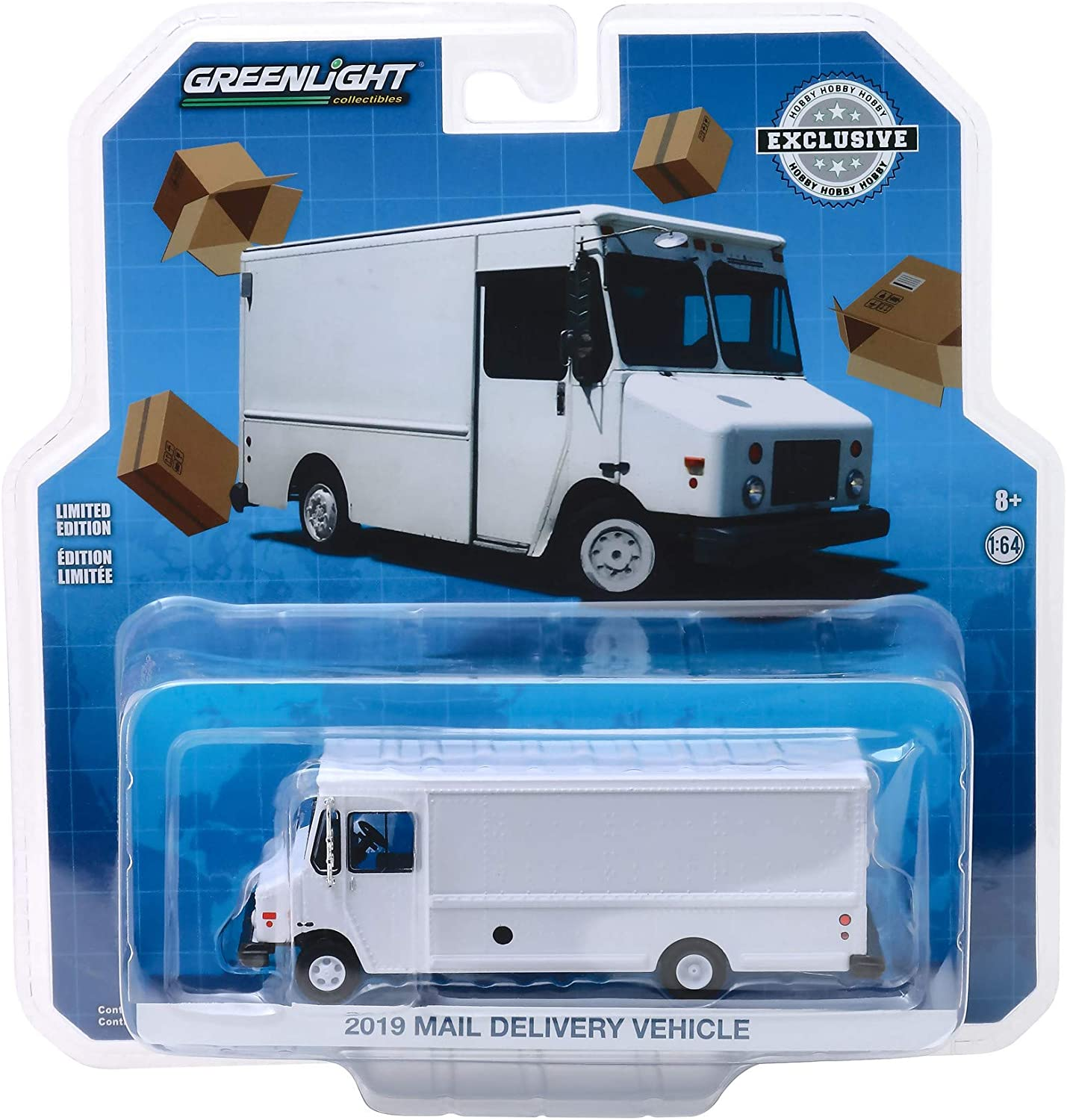 2019 Mail Delivery Vehicle White Hobby Exclusive 1/64 Diecast Model by Greenlight 30097