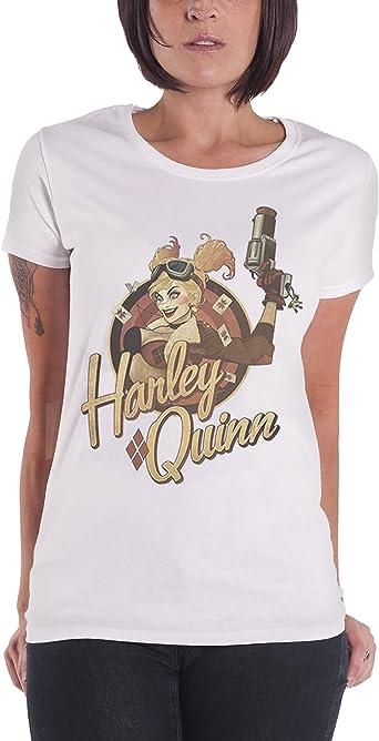 Harley Quinn T Shirt Womens Justice League Bombshell Badge Official Dc Comics 10