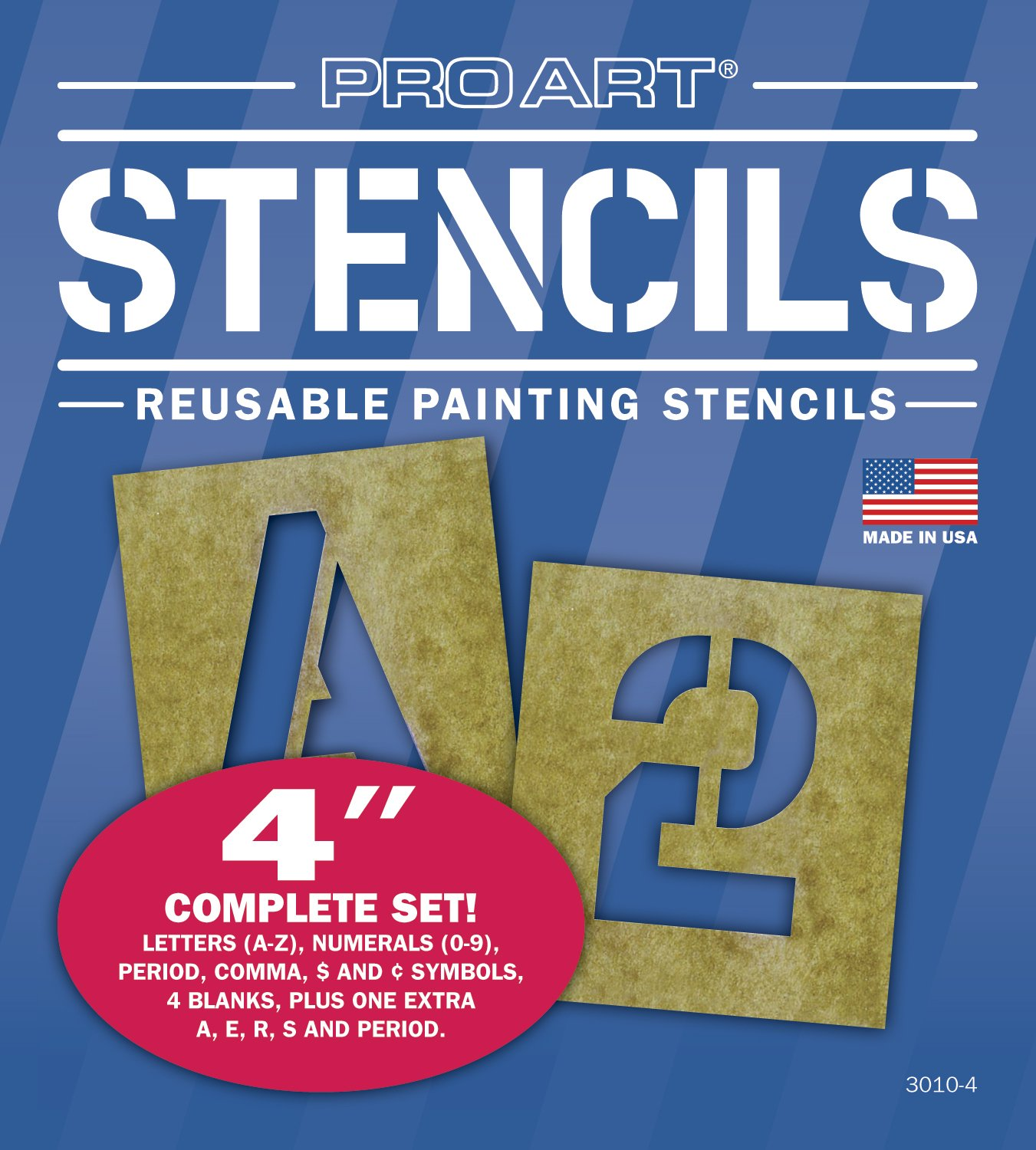 amazoncom pro art 6 inch painting stencil set letters and numbers