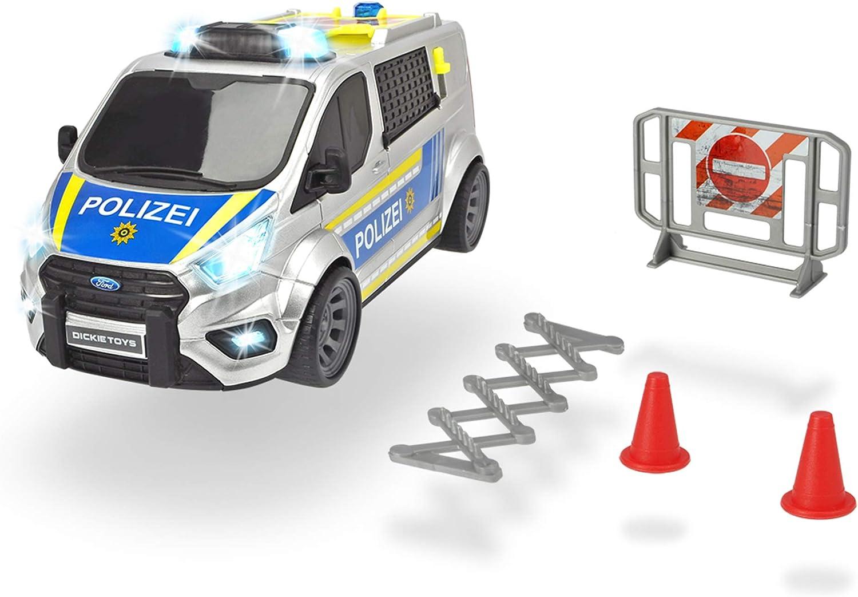 Dickie Toys Chariot de Police avec lumi/ère et Son
