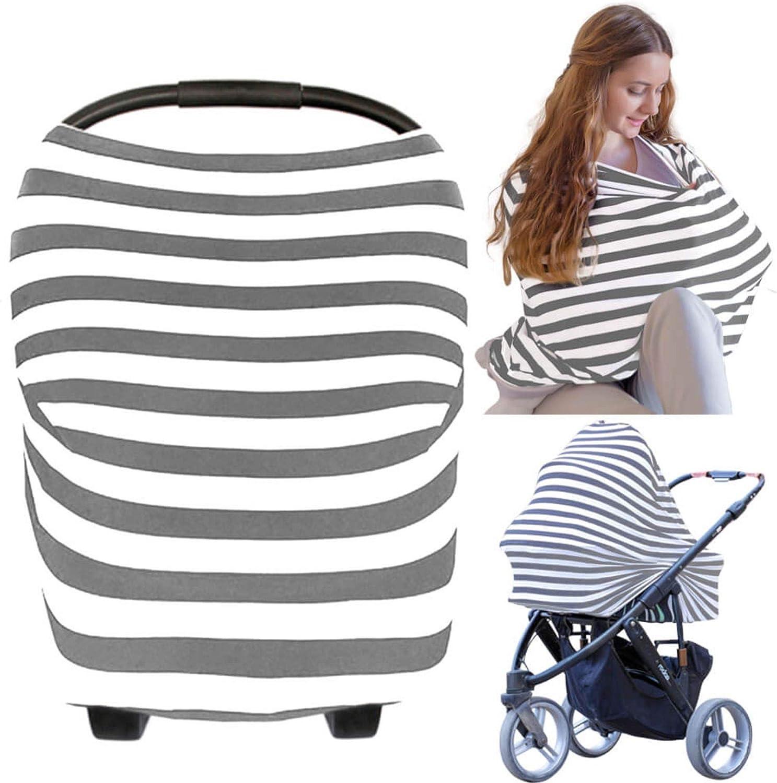 Cubierta para asiento de coche - Cubierta para asiento de coche KeaBabies - Manta de lactancia todo en 1 - Cubierta de asiento de bebé para niños, niñas - Funda para cochecito (BFF gris)