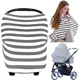 Carseat Canopy Cover - Baby Car Seat Canopy by KeaBabies - All-in-1 Nursing Breastfeeding Covers Up - Baby Car Seat Canopies for Boys Girls - Stroller Covers - Shopping Cart High Chair Cover (Gray)