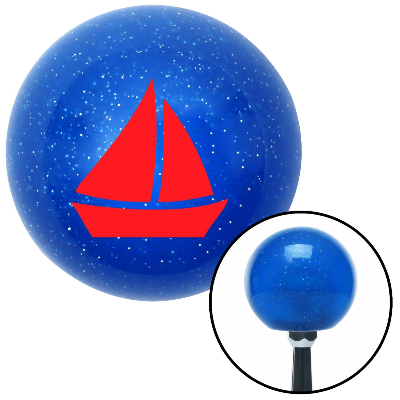 Red Sail Boat 2 American Shifter 22656 Blue Metal Flake Shift Knob