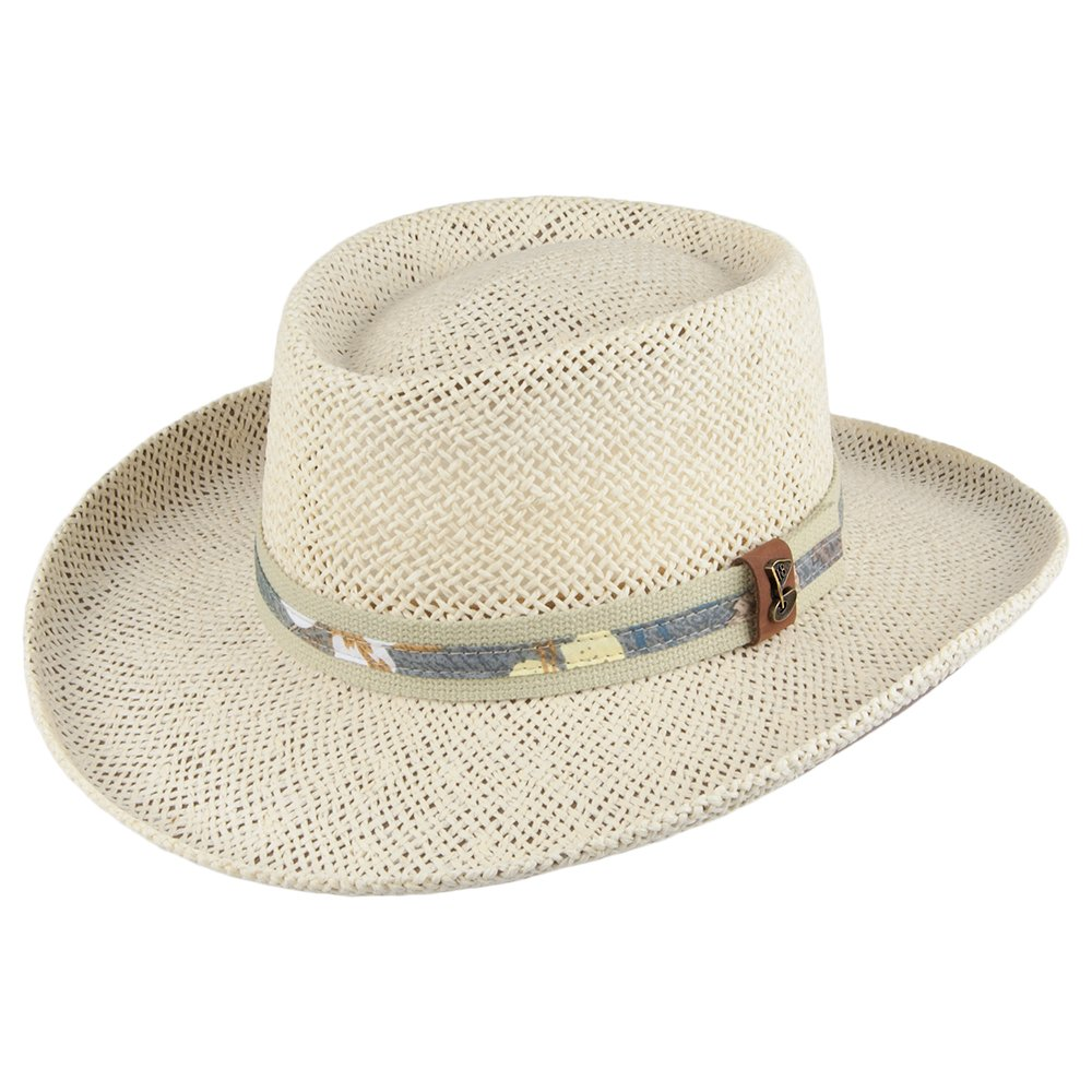 741cc1ce Men's Scala 321OS Gambler Straw Hat with Golf ... - Overstock.com