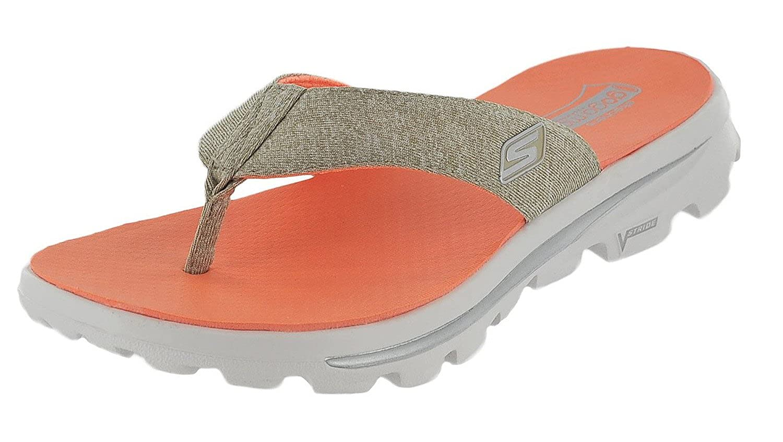 9c08e15ffe88 Skechers Go Walk Move Solstice Womens Flip Flop Sandals (11 B(M) US ...