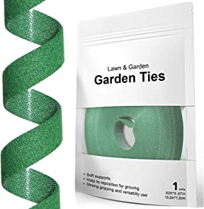 LE TAUCI Plant Ties, Garden Tape for Plant, Reusable Adjustable Thicker Support for Growing Strong Grip, Tomato Vines Tree Fixed Rope Indoor Outdoor (50 ft x 0.47 Inch, 1 roll, Green)
