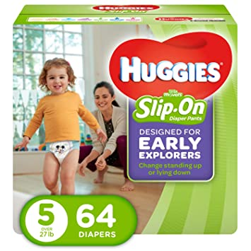 bd529d9be030 Image Unavailable. Image not available for. Color  Huggies Little Movers  Slip-On Diapers ...