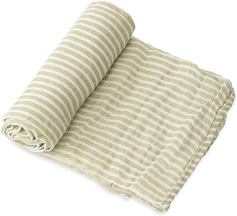 Green /& Burgandy Striped swaddle